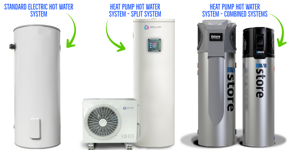 heat pump hot water difference